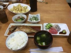 【民宿さじの夕飯】 美味しい!